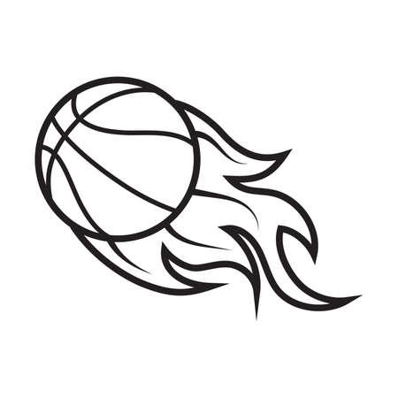 燃えるようなバスケット ボール  イラスト・ベクター素材