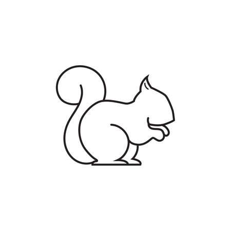 omnivorous: squirrel Illustration