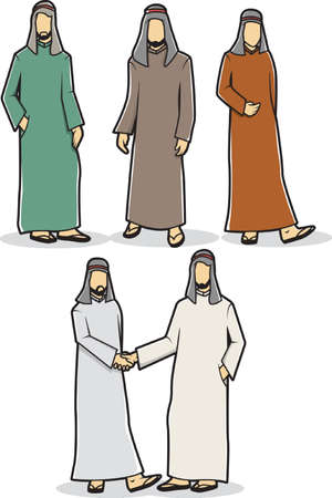 thawbs: set of middle eastern man icons