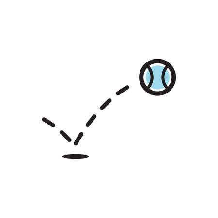 bouncing tennis ball