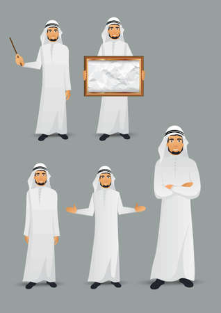 set of middle eastern man icons