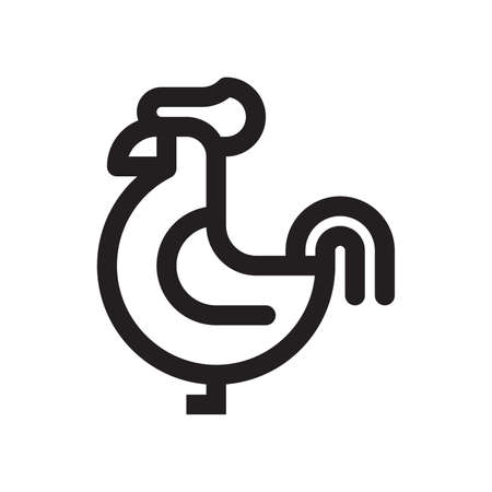 rooster icon Illustration