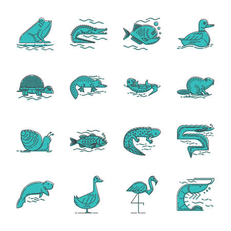 collection of animals Stock Vector - 75060525