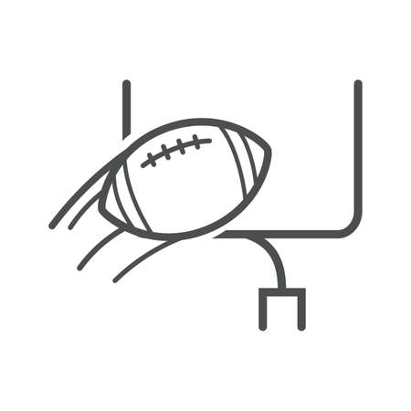 american football and goal post Illustration