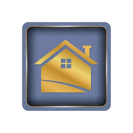 Cute house button design.