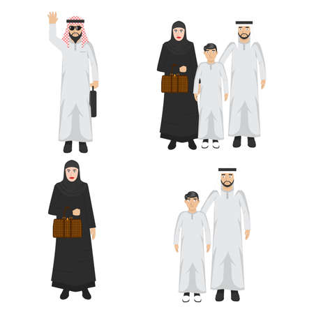set of middle eastern people icons