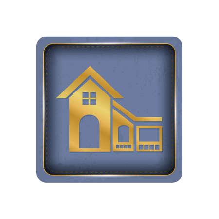 Beautiful house button design. Illustration