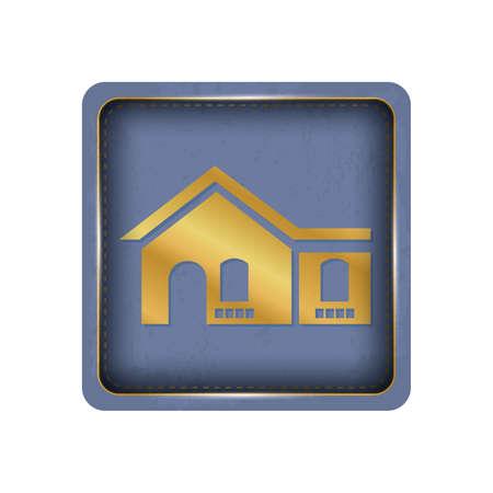 Glossy house button design. Ilustração