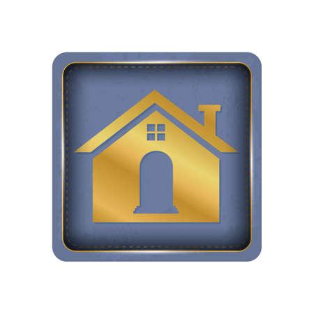Creative house button design. Illustration