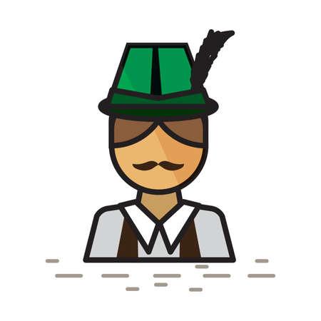 German man with alpine hat.