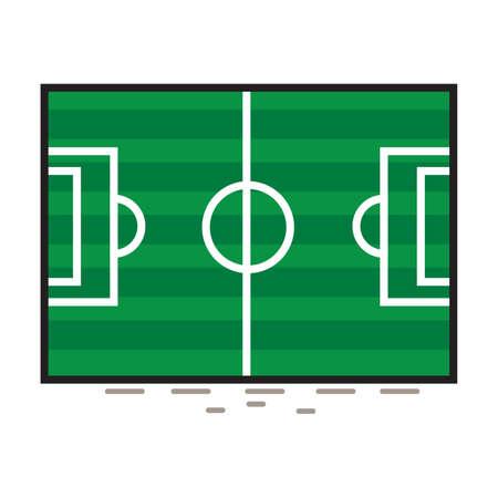 dimensions: Football field dimensions. Illustration