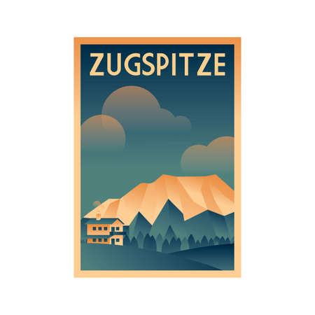 germany poster design - zugspitze