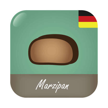 Marzipan with German flag badge icon.