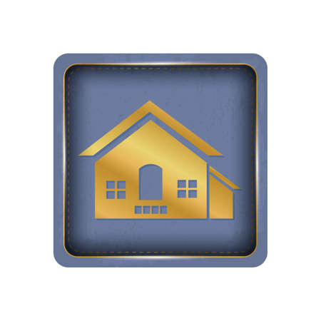 Simple and beautiful house button design.