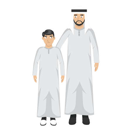 middle eastern man with son