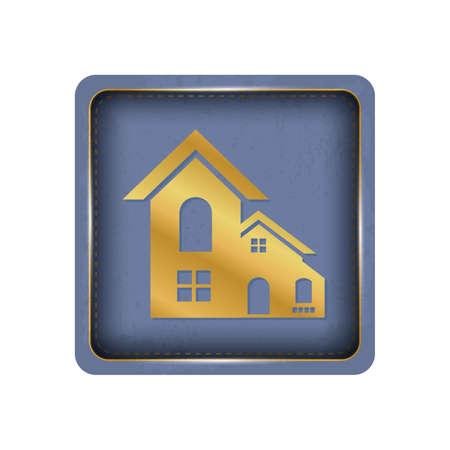 Beautiful golden house button design.