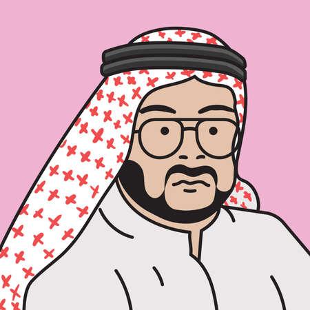 thobe: middle eastern man