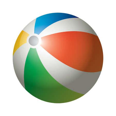 inflatable ball: beach ball