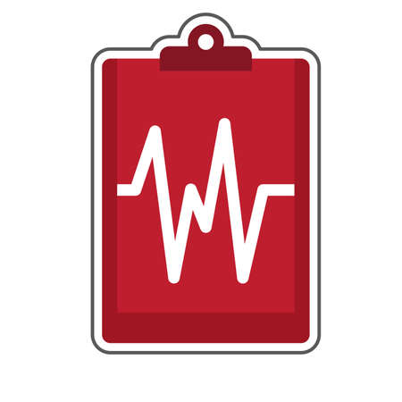 medical report on clipboard Illustration