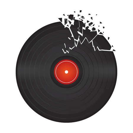 broken vinyl disc