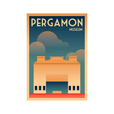 germany poster design - pergamon museum