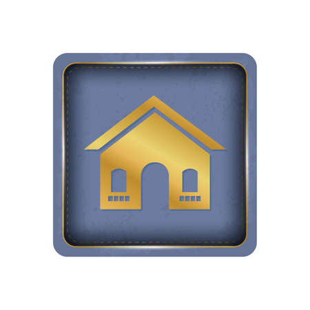 Homey golden house button design.