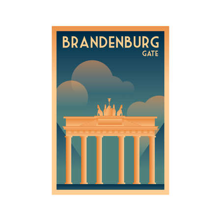 germany poster design - brandenburg gate