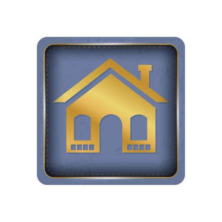House button design in purple.