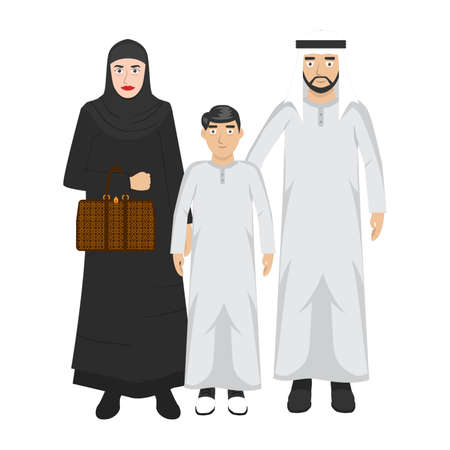 middle eastern family portrait