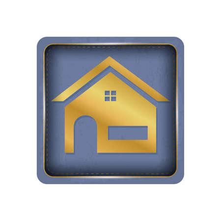 A simple house button design. Ilustração