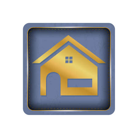 A simple house button design. Illustration