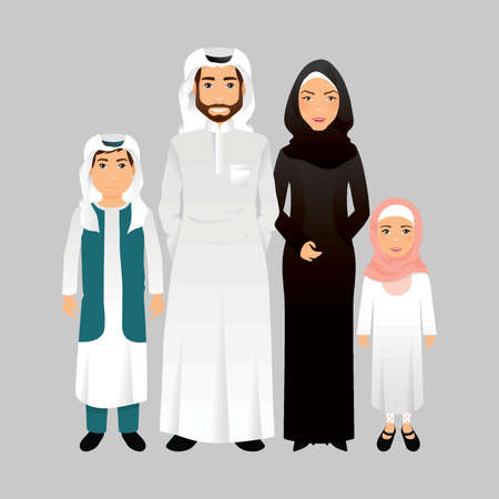 thawbs: middle eastern family portrait