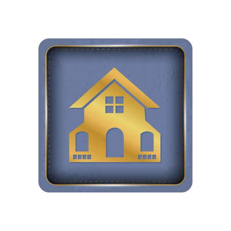 Gold house button design.