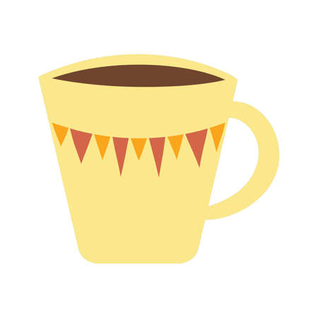 Yelow cup of coffee design.