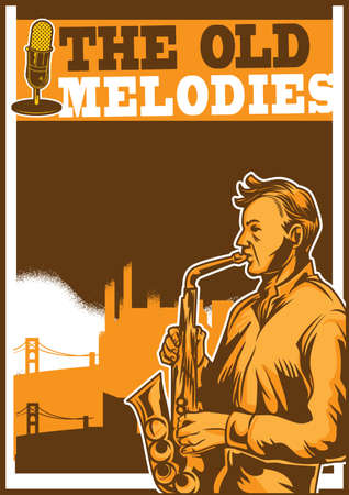 melodies: The old melodies poster design.
