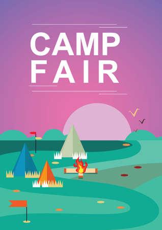 Camp fair poster design.