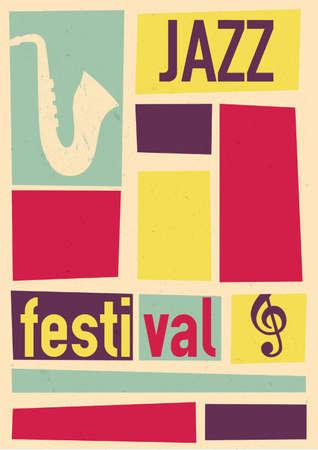Conception d'affiche de festival de jazz