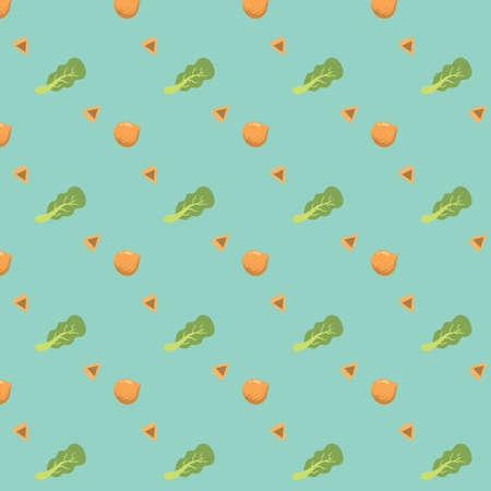 vegetable background design Illustration