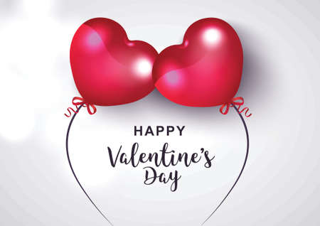 happy valentines day greeting Illustration