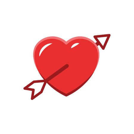 Arrow in heart icon