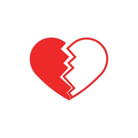Cracked heart icon Vector Illustration