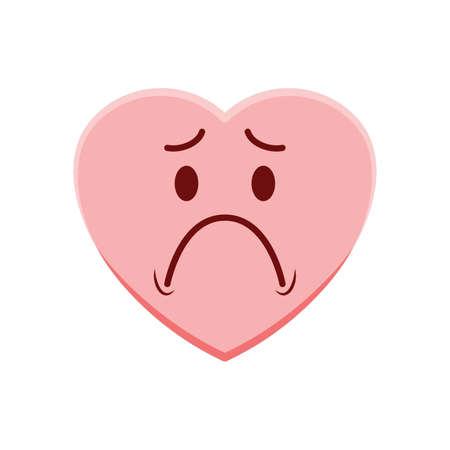 Caractère du cœur se sentant triste Vecteurs