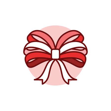 Ribbon bow Ilustração