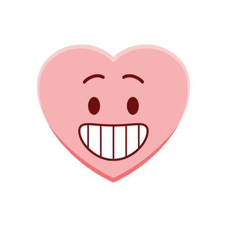 Heart character grinning