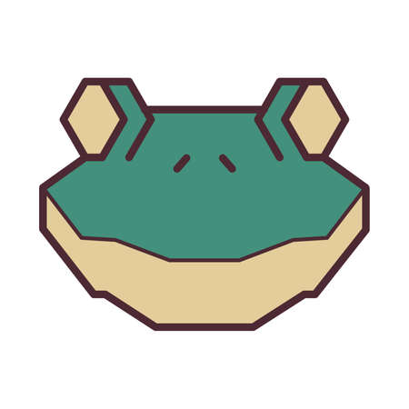 Frog head Illustration