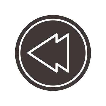 rewind: Rewind icon Illustration