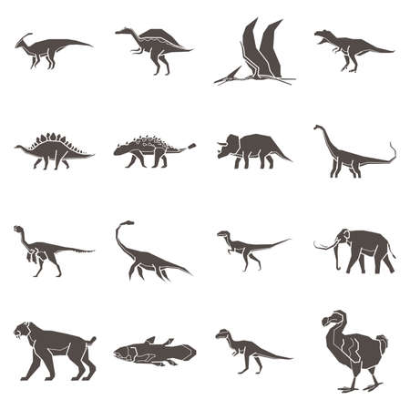 Collection of prehistoric animals Imagens - 74068262