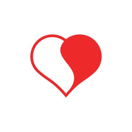 yinyang: Yinyang heart design Illustration