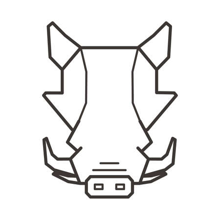 Warthog head Illustration