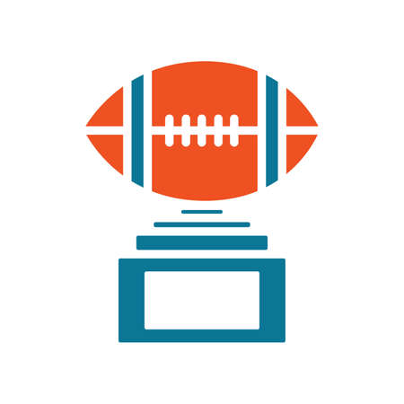 American football trophy Illustration